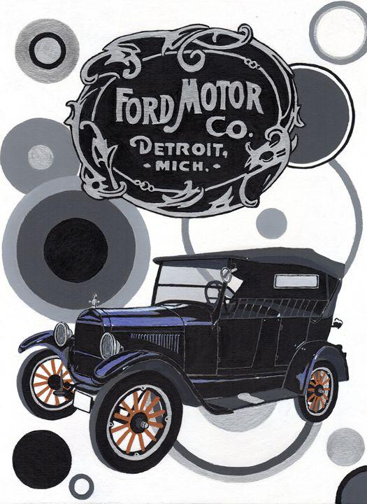 Ford Model T Tourer - Paul's Automobile Art ( Paul Cockram )