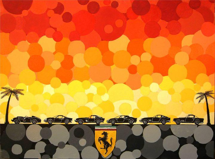 FERRARI SUNSET - Paul's Automobile Art ( Paul Cockram )