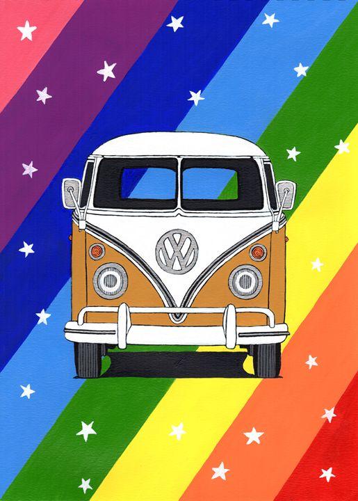 VW Camper Pop Art - Paul's Automobile Art ( Paul Cockram )