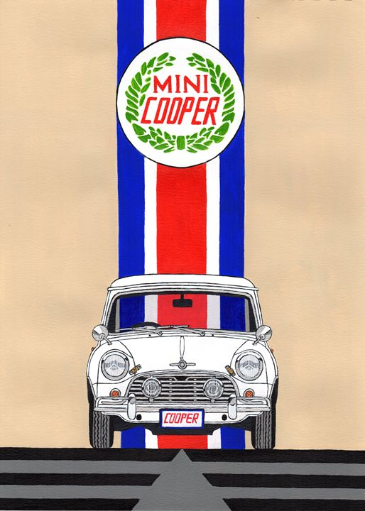 Mini Cooper - Paul's Automobile Art ( Paul Cockram )