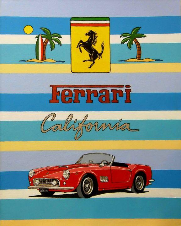 fERRARI 250GT CALIFORNIA - Paul's Automobile Art ( Paul Cockram )