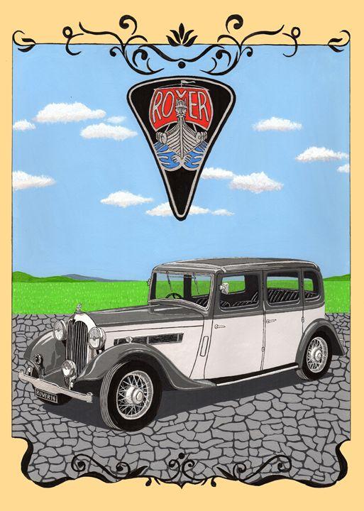 Rover 14 P1 - Paul's Automobile Art ( Paul Cockram )