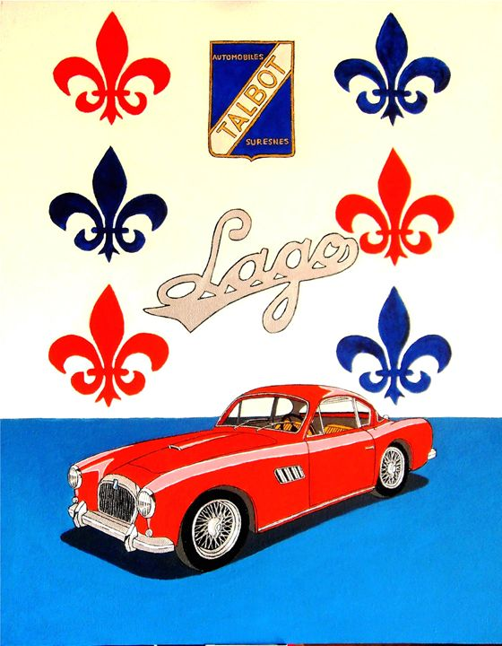 TALBOT LAGO T26 AMERICA - Paul's Automobile Art ( Paul Cockram )