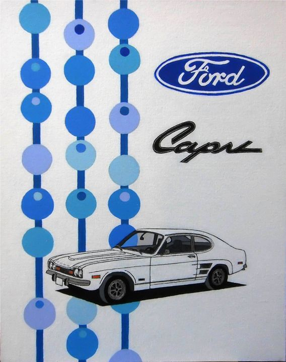 FORD CAPRI MK1 - Paul's Automobile Art ( Paul Cockram )