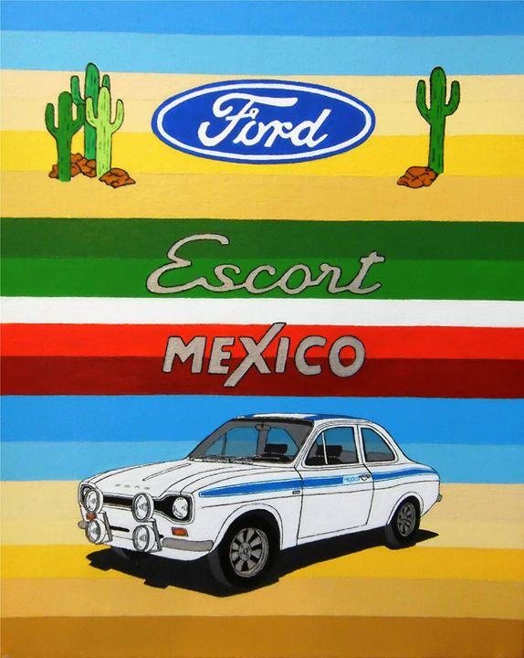 Ford Escort Mexico MK1 - Paul's Automobile Art ( Paul Cockram )