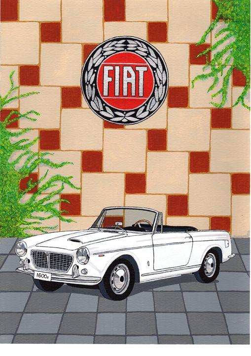 Fiat 1600 Cabriolet - Paul's Automobile Art ( Paul Cockram )