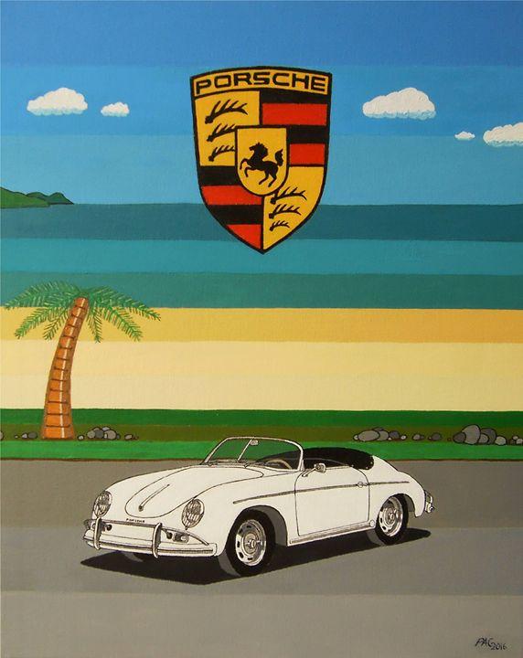 Porsche 356 Cabriolet - Paul's Automobile Art ( Paul Cockram )