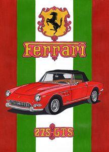 Ferrari 275GTS - Paul's Automobile Art ( Paul Cockram )
