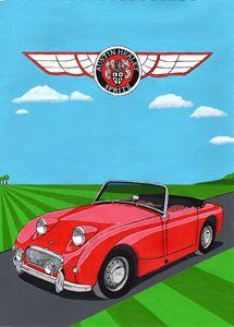 Austin Healey 'Frogeye' Sprite - Paul's Automobile Art ( Paul Cockram )