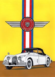 Jaguar XK150 - Paul's Automobile Art ( Paul Cockram )