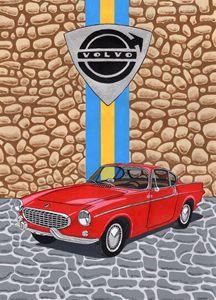 Volvo P1800 - Paul's Automobile Art ( Paul Cockram )
