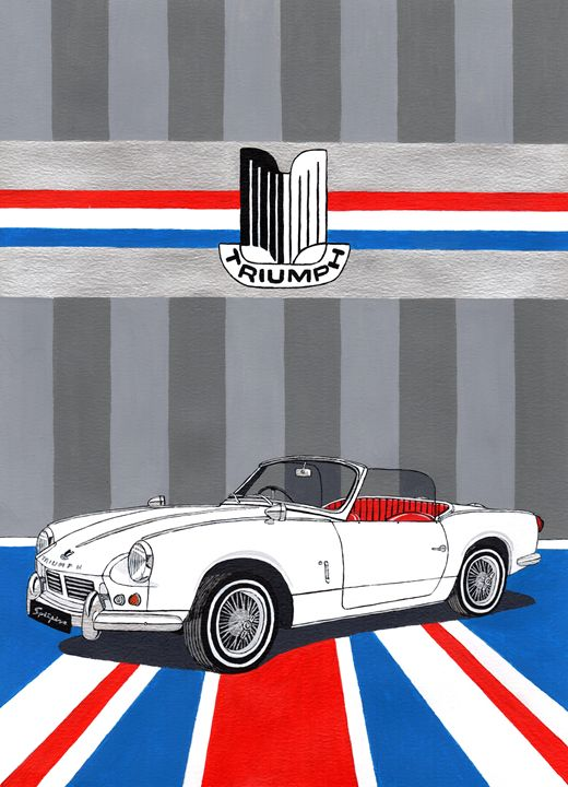 Triumph Spitfire MK2 - Paul's Automobile Art ( Paul Cockram )