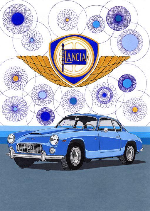 Lancia Flaminia Sport Zagato - Paul's Automobile Art ( Paul Cockram )