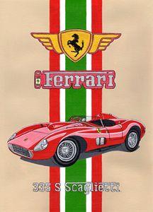 Ferrari 335 S  Scaglietti - Paul's Automobile Art ( Paul Cockram )