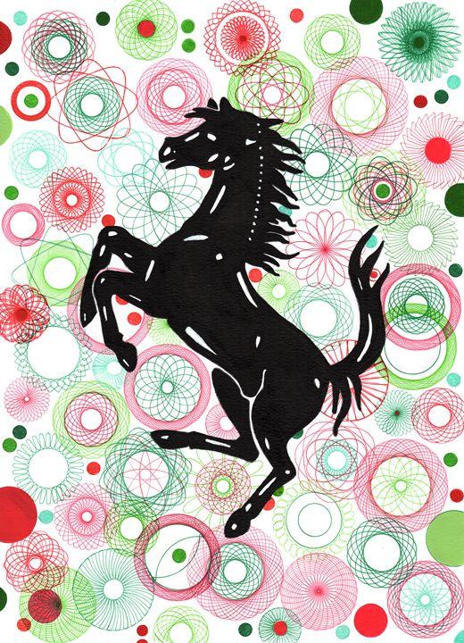 Prancing Horse - Paul's Automobile Art ( Paul Cockram )