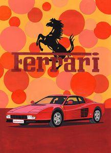 Ferrari Testarossa - Paul's Automobile Art ( Paul Cockram )