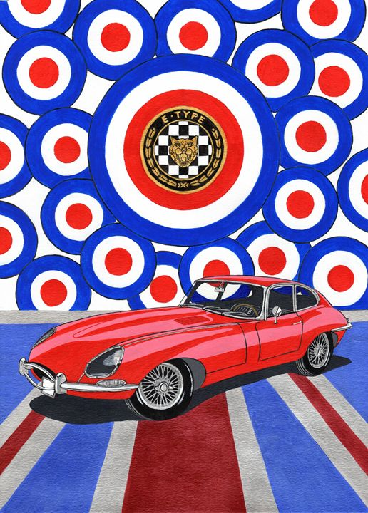Jagaur E-type - Paul's Automobile Art ( Paul Cockram )