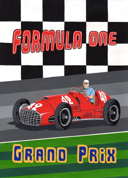 Retro Formula One GP - Paul's Automobile Art ( Paul Cockram )