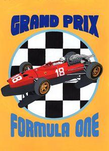 F1 GP Retro Poster - Paul's Automobile Art ( Paul Cockram )