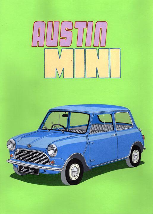 Austin Mini - Paul's Automobile Art ( Paul Cockram )
