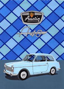 Austin A40 Farina - Paul's Automobile Art ( Paul Cockram )