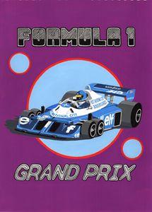 Retro F1 Grand Prix Poster - Paul's Automobile Art ( Paul Cockram )
