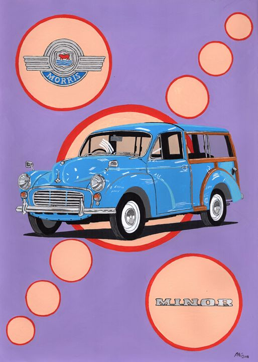 Morris Minor Traveller - Paul's Automobile Art ( Paul Cockram )