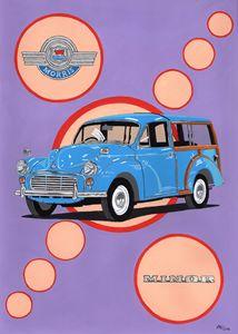 Morris Minor Traveller - Paul's Automobile Art ( Paul Cockram )