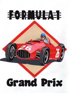Vintage Retro GP Poster - Paul's Automobile Art ( Paul Cockram )