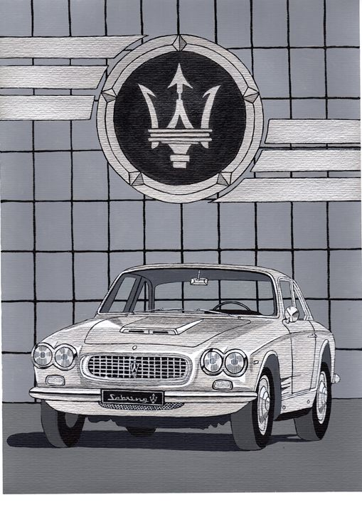 Maserati Sebring - Paul's Automobile Art ( Paul Cockram )