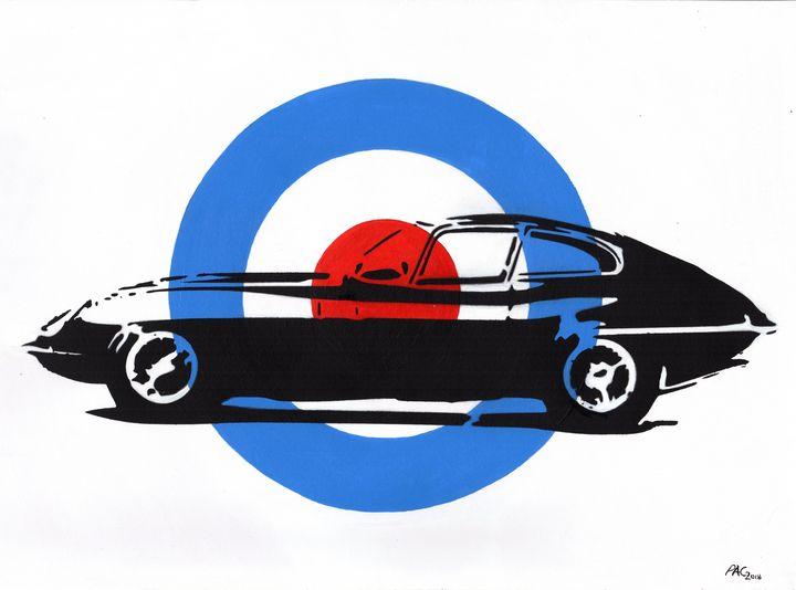 Jaguar E-Type Target - Paul's Automobile Art ( Paul Cockram )