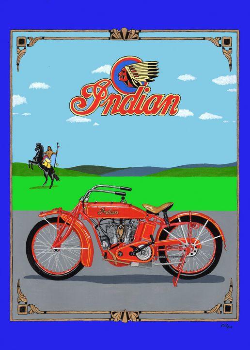 Indian Scout - Paul's Automobile Art ( Paul Cockram )