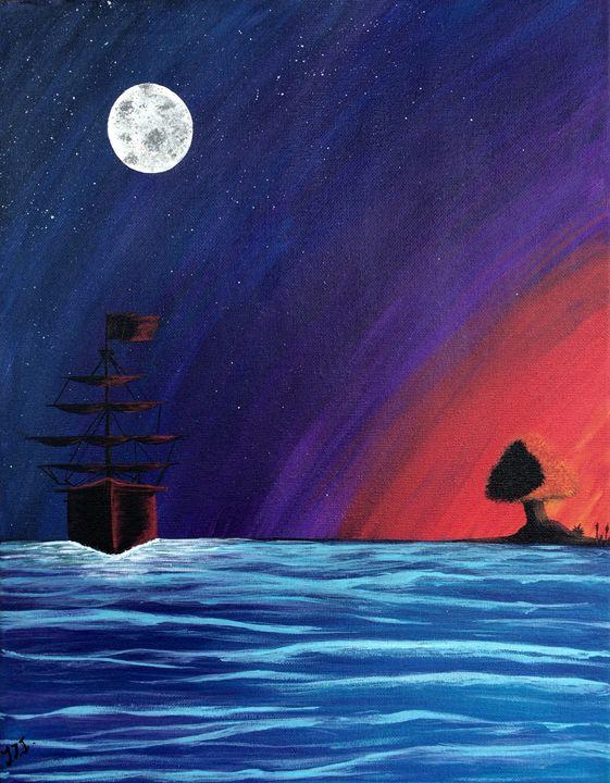Sailing home - Vivid Expressions Art