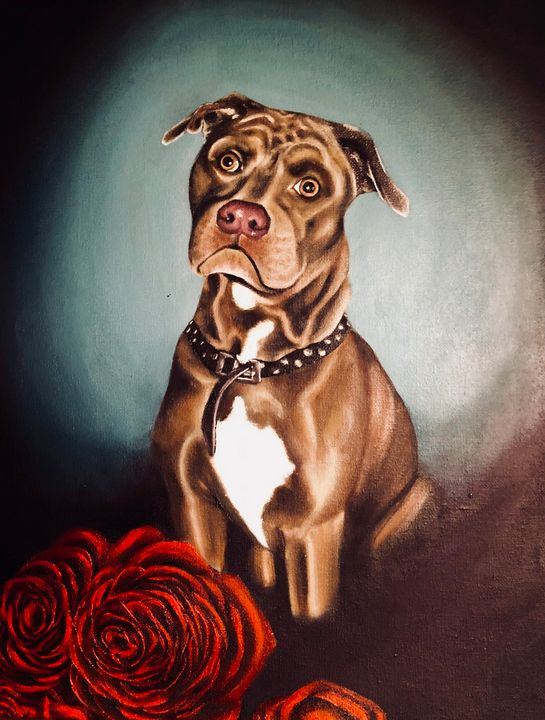 Red nose and red roses - Vivid Expressions Art