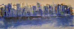 City Scape - Blue Horizon