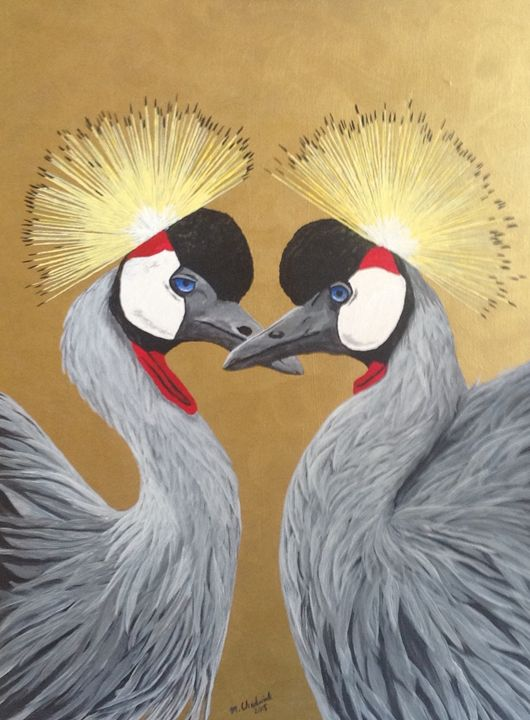 Crowned Cranes - Monica Chadwick Fine Art