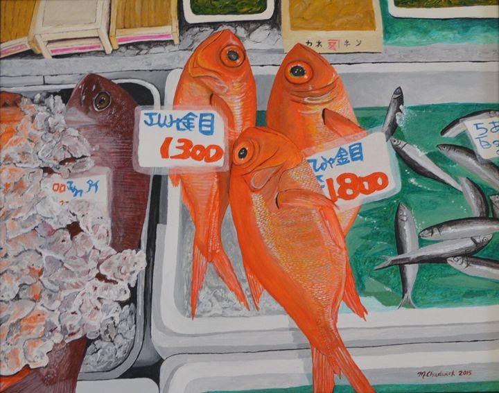 Tokyo Fish Market - Monica Chadwick Fine Art