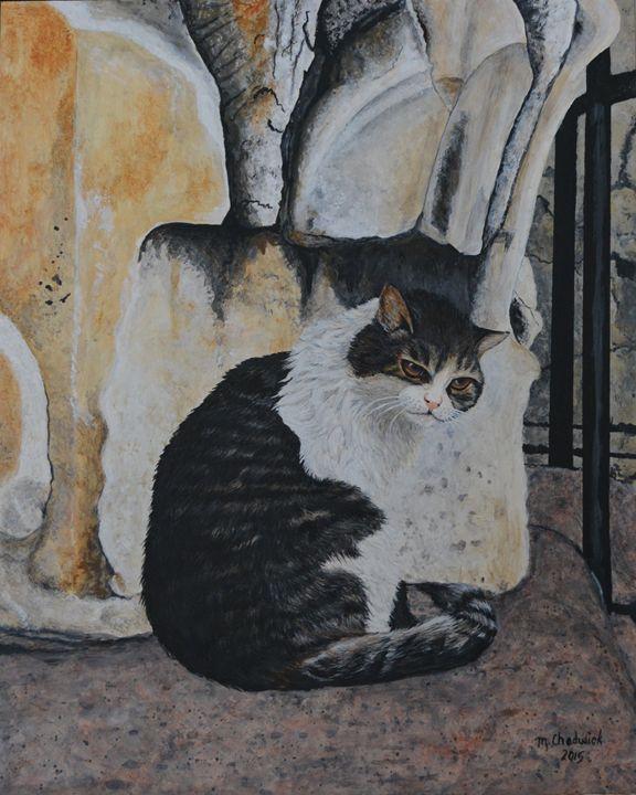 Italian cat - Monica Chadwick Fine Art