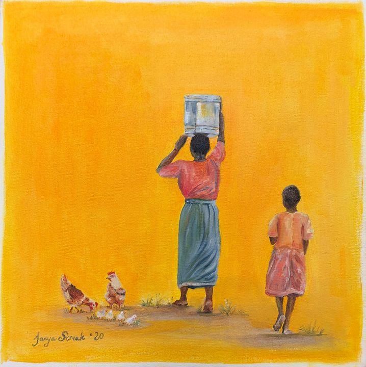 Mother and daughter - Tanya Streak Art