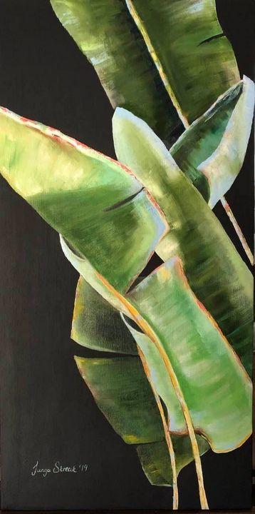 Leaves on Black SOLD - Tanya Streak Art