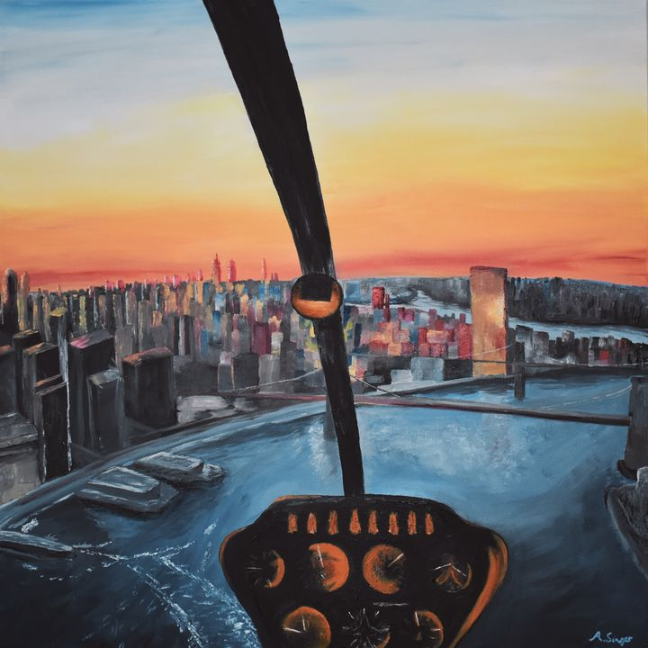 Pilots View from R44 Helicopter - Singer Fine Arts
