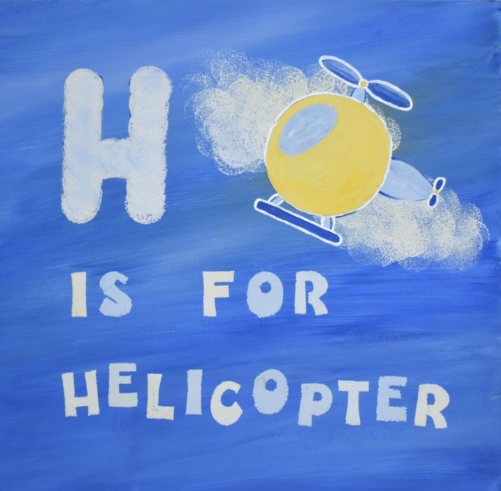 H is for Helicopter - Singer Fine Arts