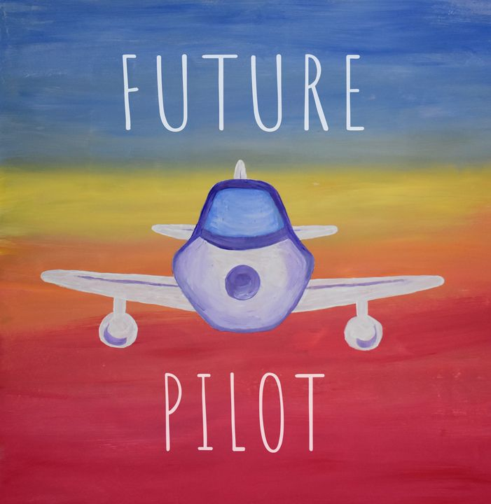 Future Pilot Airplane Painting - Singer Fine Arts