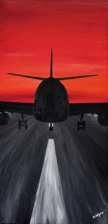 Red Night Landing - Singer Fine Arts