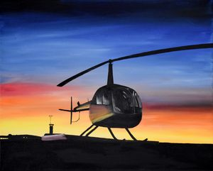 R44 Helicopter Sunrise