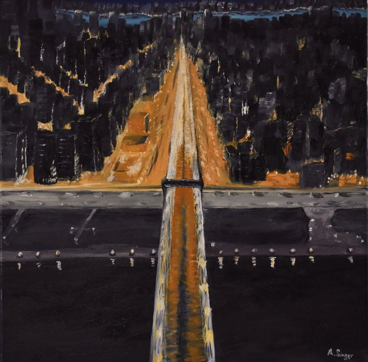 Flying over the Brooklyn Bridge - Singer Fine Arts