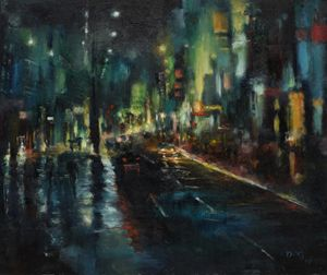 Rainny city night