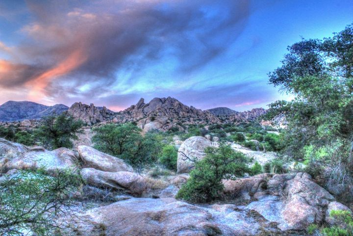 Dusk at Texas Canyon - Lion's Gate and Open Road Photography