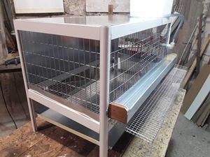 Aluminum cage for quail.