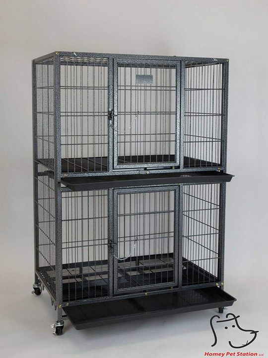 Pet Cage and Durable Plastic Black - catrin